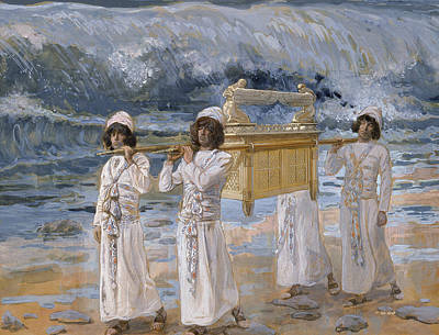 Ark Painting - The Ark Passes Over The Jordan by James Tissot