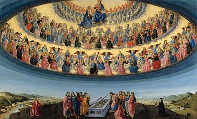 Digital Art - The Assumption Of The Virgin by Francesco Botticini