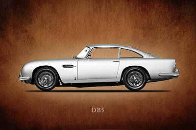 Racing Car Photograph - The Aston Martin Db5 by Mark Rogan