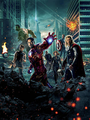 Superstar Digital Art - The Avengers 2012 by Unknown