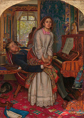 Painting - The Awakening Conscience by William Holman Hunt