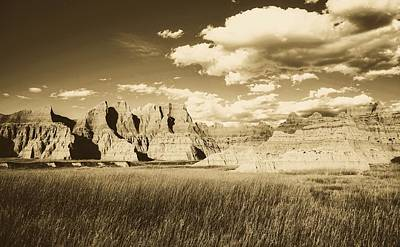 Photograph - The Badlands by Library Of Congress