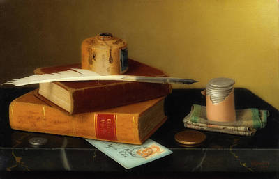 Ledger Books Wall Art - Painting - The Banker's Table by William Michael Harnett
