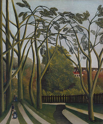 Naive Art Painting - The Banks Of The Bievre Near Bicetre by Henri Rousseau