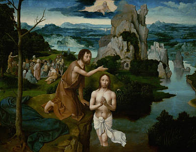 Painting - The Baptism Of Christ by Joachim Patinir
