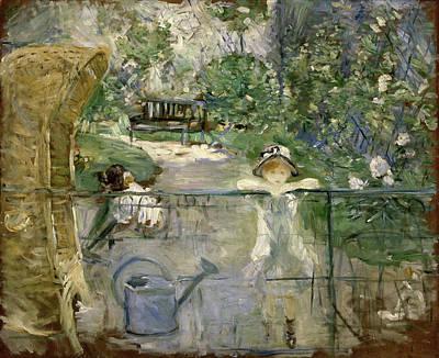 Berthe Morisot Painting - The Basket Chair by Berthe Morisot