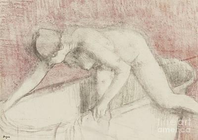 Edgar Degas Pastel - The Bath by Edgar Degas