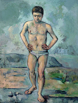 Cezanne Painting - The Bather by Paul Cezanne