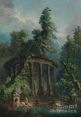 Painting - The Bathing Pool by Hubert Robert