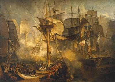 Battle Of Trafalgar Painting - The Battle Of Trafalgar by Joseph Mallord