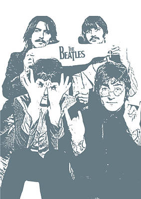 The Beatles Art Print by Unknown