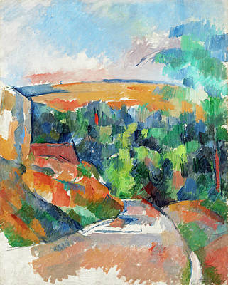 Painting - The Bend In The Road by Paul Cezanne