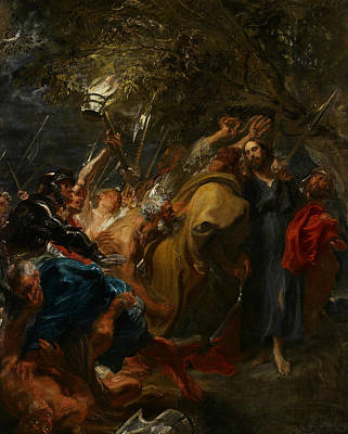 Painting - The Betrayal Of Christ by Anthony van Dyck