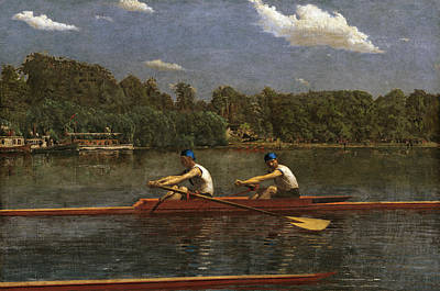 Painting - The Biglin Brothers Racing by Thomas Eakins