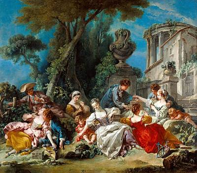 Cage Painting - The Bird Catchers by Francois Boucher