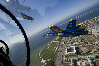 F-18 Painting - the Blue Angels by Celestial Images