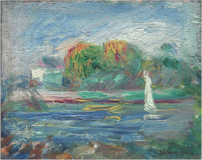 Painting - The Blue River by Auguste Renoir
