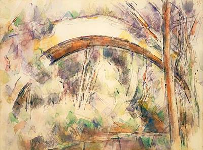 Nature Abstract Drawing - The Bridge Of Trois - Sautets by Mountain Dreams