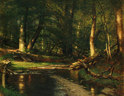 Painting - The Brook In The Woods by Worthington Whittredge