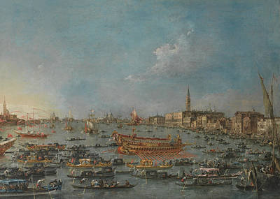 Painting - The Bucintoro Festival Of Venice by Treasury Classics Art