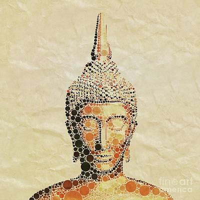 Thoth Digital Art - The Buddha, Pop Art By Mary Bassett by Mary Bassett