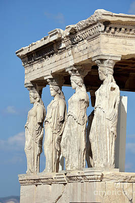 Photograph - The Caryatids Porch by George Atsametakis