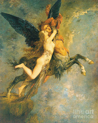 Pegasus Painting - The Chimera by Gustave Moreau