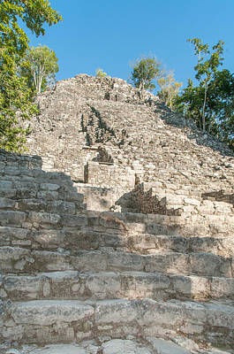 Food And Flowers Still Life Rights Managed Images - The Church at Grupo Coba At the Coba Ruins  Royalty-Free Image by Carol Ailles