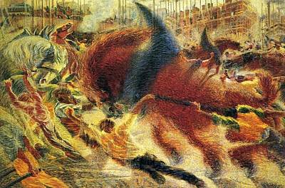 Boccioni Painting - The City Rises Umberto Boccioni by MotionAge Designs