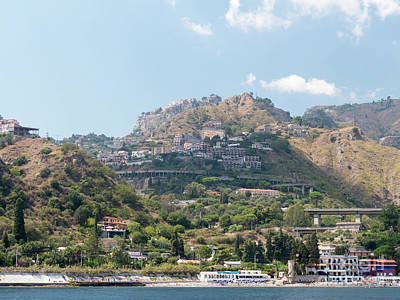 Photograph - The Coast Near Taormina by Rod Jones