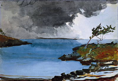 Winslow Homer Drawing - The Coming Storm by Winslow Homer