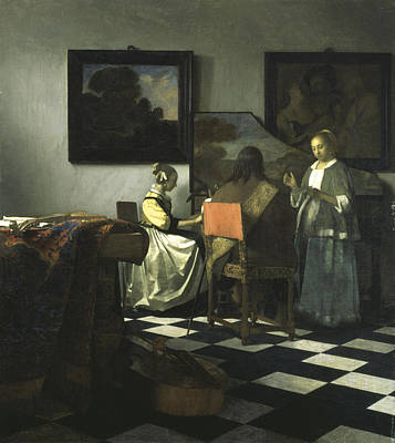 Painting - The Concert by Johannes Vermeer