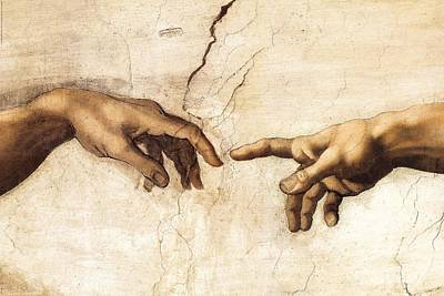 Painting - The Creation Of Adam by Michelangelo