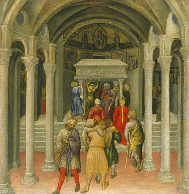 Painting - The Crippled And Sick Cured At The Tomb Of Saint Nicholas  by Gentile da Fabriano