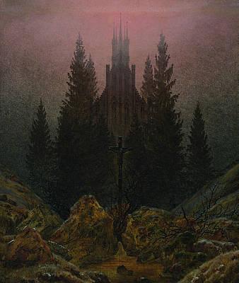 Caspar David Friedrich Painting - The Cross In The Mountains by Caspar David Friedrich