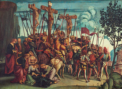 Crucifixion Painting - The Crucifixion by Luca Signorelli
