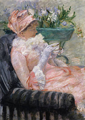 Seat Painting - The Cup Of Tea by Mary Cassatt