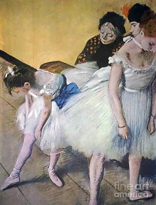 Painting - The Dancing Class by Edgar Degas