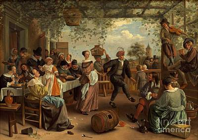 Steen Painting - The Dancing Couple by Celestial Images
