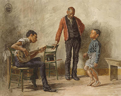 Drawing - The Dancing Lesson by Thomas Eakins