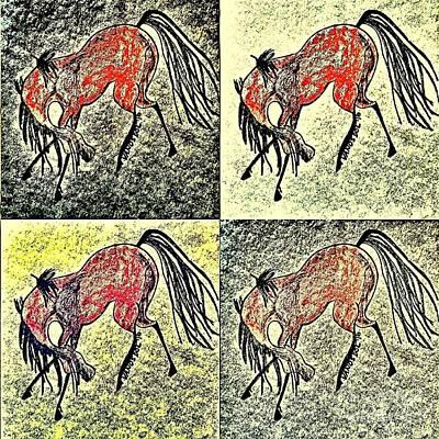 Wild Racers Painting - The Dancing Pony by Scott D Van Osdol