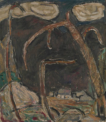 Painting - The Dark Mountain, No. 1 by Marsden Hartley