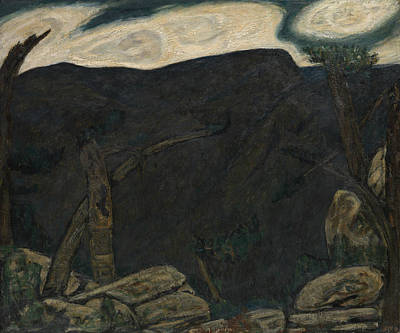 Painting - The Dark Mountain, No. 2 by Marsden Hartley
