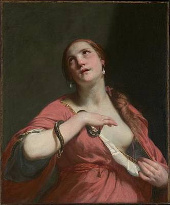 The Death Of Cleopatra Painting - The Death Of Cleopatra by Guido Cagnacci