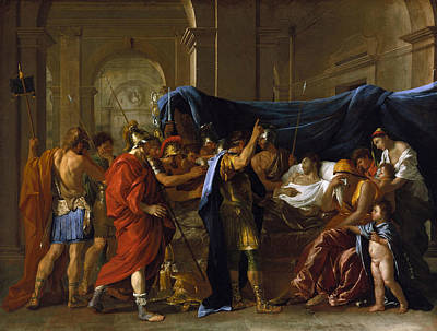 Painting - The Death Of Germanicus by Nicolas Poussin