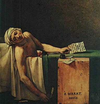 The Death Of Marat  Art Print