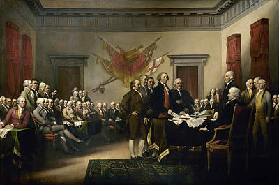 Revolutionary War Of 1776 Painting - The Declaration Of Independence by John Trumbull