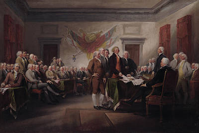 Revolutionary War Of 1776 Painting - The Declaration Of Independence, July 4, 1776 by John Trumbull