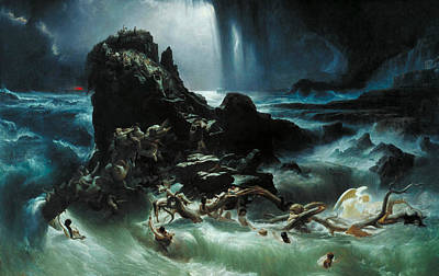 The Deluge Painting - The Deluge by Francis Danby
