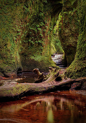 Photograph - The Devil Pulpit At Finnich Glen by Jeremy Lavender Photography